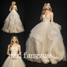 Beige Champagne Wedding Dresses Bridal Formal Gowns Size 4 8 12 16 18 20 Plus