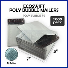 1000 T 5x6 Self Seal Poly Bubble Mailers Padded Shipping Envelopes Bags 5 X 6