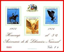 CHILE 1976 ANTI-COMMUNIST REVOLUTION ANNIV. S/S SC#496a MNH BIRDS, INDIANS