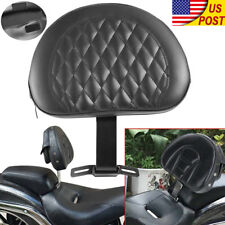 Motorcycle djustable Driver Rider Seat Backrest For Harley Davidson Fatboy FLSTF