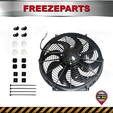 16 inch Radiator Fan Curved Blade Thermo Electric Cooling Fan with Mounting Kit