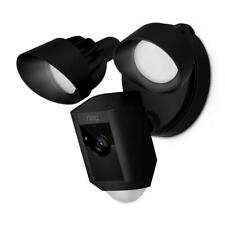 Ring Outdoor Security Camera Wi-fi Motion Activated Floodlight 2-way Talk Black