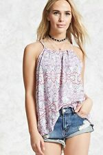 NWT Forever Pink/Red Geo Print Cami - Size M