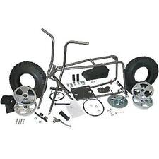 "Mini Bike Kit Set Fork Frame Seat 10"" Tire Wheel Sprocket Chain Twist Grip Cable"