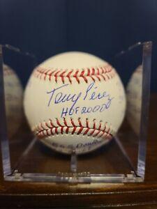 Tony Perez Stat Baseball with 10 inscriptions; JSA Cert; HOFer; Reds