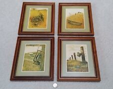 Framed Art, Lot of 4 different 'prairie Americana' Rustic Scenes, by Rudy Nappi