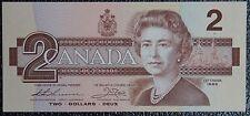"BANK OF CANADA - 1986 $2 Note - SCARCE PREFIX ""AUN"" - Nice - NCC"