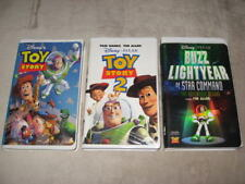 Walt Disney Pixar Lot 3 VHS Videos Toy Story 1 2 Buzz Lightyear Star Command (9)