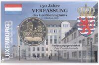 2 Euro Coincard / Infokarte Luxemburg 2018 Verfassung