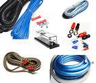 Brand New Bullz Car Audio Blue 4 Gauge Pro AMP / Amplifier Power Wiring Kit