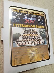 Pittsburgh Steelers Super Bowl XIV Champions Team Plaque