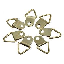 100X Picture Frame Hanging Triangle D .Rings Frames Hanger Hooks Gold New Pro