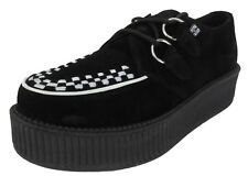 TUK Black/White Suede Unisex Rockabilly Hi Creepers …