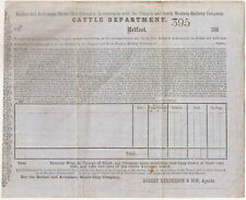 1860s Belfast/Ardrossan Steamship/Glasgow Railway Co Cattle Dept Freight Sheet