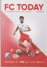 Programme / Programma FC Utrecht v PSV Eindhoven 19-10-2019