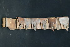 Ww1 Canadian Cef Lsh Lord Strathcona Marked 10 Pocket Leather Ammo Bandolier