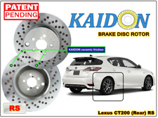 "Lexus CT200H brake disc rotor KAIDON (Rear) type ""BS"" / ""RS"" spec"