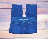 "White House Black Market Women's Noir Medium Wash Crop Leg Jeans Sz 8 30"" x 23"""