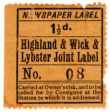 (I.B) Highland & Wick & Lybster Joint Railway : Newspaper Parcel 1½d