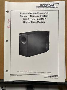 Service Manual ~ Bose Acoustimass 8 Series II Powered Speaker System AM-8P II