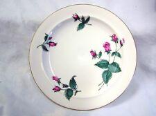 Vtg 1950s Salad Dessert Plate Easterling Bavarian China RADIANCE White Pink Rose