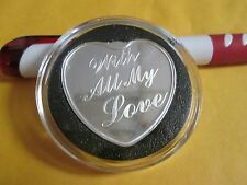 Love silver  Heart 1  oz .999 Fine Silver  bullion