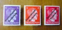 EBS Germany 1945 Meissen Locals Hitler Deutschlands Verderber Michel 32-34 MNH**