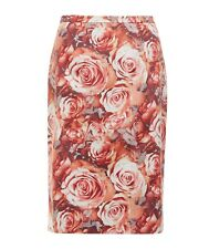 SPORTSCRAFT Signature Size 6 Rose Print Straight Fitted Pencil SKIRT Red