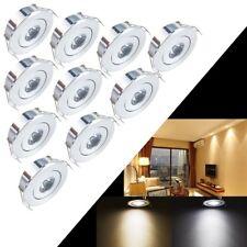 10x 1W LED Recessed Small Cabinet Mini Spot Lamp Ceiling Lighting Kit Fixture