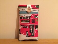Handmade With Cath Kidston London Buses Fabric - iPhone 5 5S 5C SE Padded Case