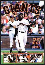 2002 San Francisco Giants Baseball MLB Media GUIDE