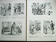 RARE - VINTAGE 1881 - PUNCH - 400 Sketches 'Our People' by Charles Keene - HB