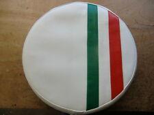 Italian Stripe White Scooter Wheel Cover