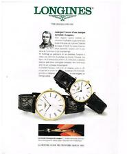 """PUBLICITE ADVERTISING 1994 LONGINES """"THE LEGEND LIVES ON """"  COLLECTION MONTRES"""