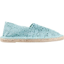 Soda Crochet Espadrille Blue Shoes Size 7.5 Brand New