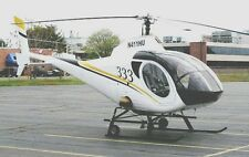 Schweizer 330 N411HU Light Helicopter Wood Model Replica Large Free Shipping