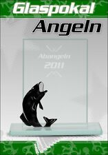 Glaspokal Angeln mit Gravur Pokale Angeln günstige Pokale Glastrophäen Trophäe
