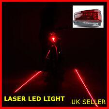 New 2018 Genuine HOYOU Bicycle Rear 5 LED Light & Laser Beam Bike Tail Lamp UK