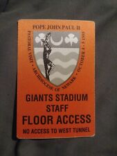 Pope John Paul II Floor Access Pass 1995 Pastoral Visit Archdiocese Of Newark