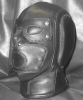 Leather Isolation Slave Mask Hood Bondage Sensory Blind