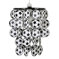 Boys Kids Bedroom Football Ceiling Pendant Light Shades Lampshade Red Blue Green