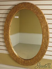 37706: FRIEDMAN BROTHERS Oval Carved & Gold Frame Mirror ~ NEW