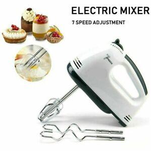 Electric Handheld Whisk 7 Speed Hand Mixer Kitchen Egg Beater Cream Cake Blender