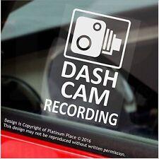 4 X Pegatinas de Advertencia de Grabación Cámara en Tablero - 60mm Cctv signos-coche, taxi, MINI CAB van