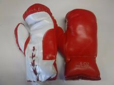 Pair Of Boxing Gloves Red & White 6 Oz Unused 091317jh