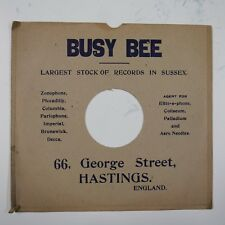 "10"" 78rpm gramophone record sleeve BUSY BEE hastings george st"