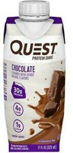 Quest High Protein Shake 16 Count Chocolate Ready to Drink Low Carb