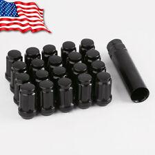20 Black 12x1.25 Spline Lug Nuts + Key for Nissan Subaru Brz Fr-S Sti Baja