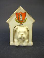 Shelley China modello di un cane nella cuccia con PLATANO Crest