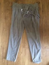 tibi suede relaxed fit pants with wrap around belt size 0 retail price 1195